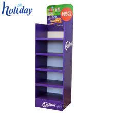 Cardboard Grocery Store Display Shelf For Retail