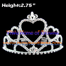 Crystal Heart Shaped Pageant Crowns