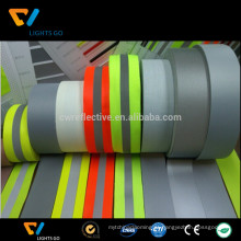 Fita reflexiva da correia do verde-lima do fluoresecnt de 3m / fita reflexiva infravermelha quadriculado