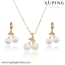 VIP-63389-Xuping 18k Gold Plated Jewelry, Fashion Gold Jewelry Set