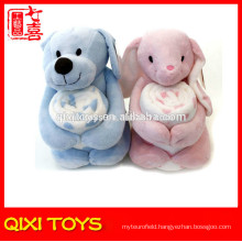 bear/rabbit baby cuddle blanket plush toy with blanket