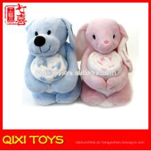 urso / coelho bebê cuddle cobertor brinquedo de pelúcia com cobertor