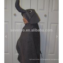 Elephant Kapuzenhandtuch, 100% Baumwolle, super weich und saugfähig