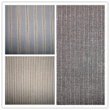Tissu à rayures en lin et rayures