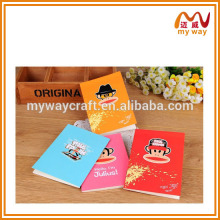 Caderno bonito da tampa do macaco, design bonito dos cadernos das crianças