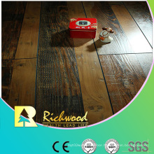 12.3mm Hand Scraped Walnut V-Grooved Laminated Floor