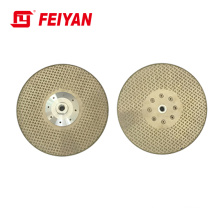 Factory Direct Sale FEIYAN Diamond Tool 230mm Two Sides Starts Electroplated  Blade For Marble