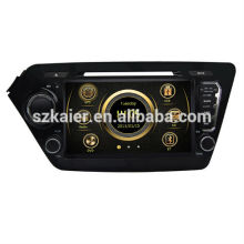 Usine directement! Quad core voiture dvd lecteur android pour voiture, GPS / GLONASS, OBD, SWC, wifi / 3g / 4g, BT, lien miroir pour K2 / Rio