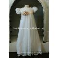 Новорожденного крестины длинные кружева белый крещение платье день рождения платье для девочки в формальный повод