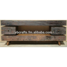 recycle wood old tv unit