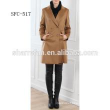 China Factory best-selling slimfit Ladies' 100% Cashmere coat