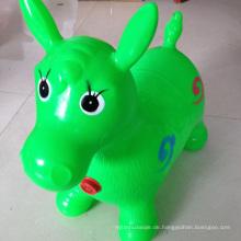 Grüner Pferdetrichter, Pumpe eingeschlossen (aufblasbares Springpferd, Raumschiff, Ride-on Bouncy Tier