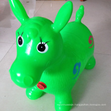 Green Horse Hopper, Pump Included (Inflatable Jumping Horse, Space Hopper, Ride-on Bouncy Animal