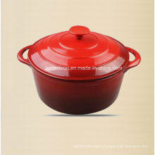 Round Enamel Cast Iron Casserole with Cast Iron Knob Dia 24cm
