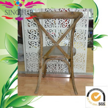 Nova cadeira de madeira cruzada de madeira