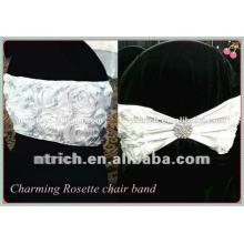 Chambre de charme!!! ceinture de chaise de polyester de rosette pour mariage et banquet