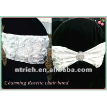Charming!!! rosette polyester chair sash for wedding and banquet