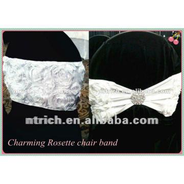 Charmosa!!! faixa de poliéster cadeira Roseta para o casamento e o banquete