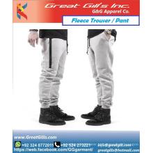 calças masculinas de lã de algodão compridas longas calças de atletismo por atacado feitas no Paquistão