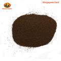 Teneur en MnO2 35% médias filtrants de sable de manganèse pour la purification d'eaux d'égout