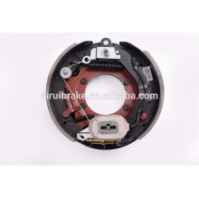 "drum brake -12.25""x3-3/8'' electric drum brake with adjuster cable for trailer(5bolt holes ) with dust shield"