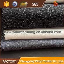 Interfaz fusible tejida de tejido liso