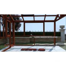 Алюминиевый открытый зимний сад стеклянная солнечная комната