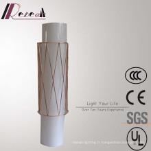 Lampe de mur de chevet en cuivre décorative acrylique de cylindre d'hôtel européen