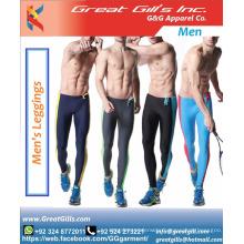 wholesale gym wear leggings men's custom logo silk printed compression pants