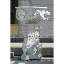 Садовый каменный цветочный горшок для ландшафтного камня (QFP309)