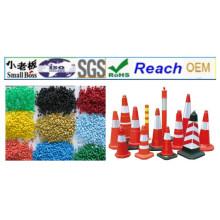 Materiales de gránulos de PVC para el cono del camino del tráfico