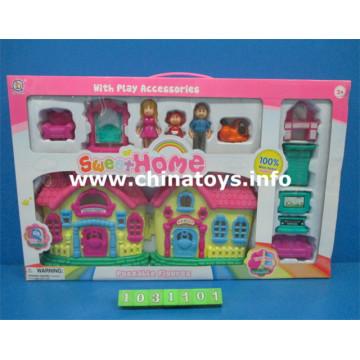 Jouets pour enfants jouets en plastique maison de poupée (1031101)