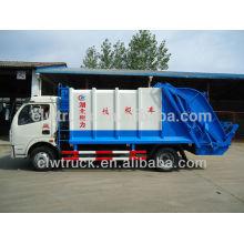 Dongfeng 3 ton compactor caminhão de lixo, 4x2 caminhão de lixo para venda no Paquistão