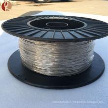 1mm température de transition 25 à 40C noir et poli forme nitinol mémoire fil