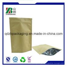 Kraftpapier Ziplock Chia Samen Tasche für Großhandel