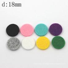 Almofadas de difusor de óleo essencial de algodão colorido redondo de 18mm