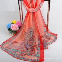 Usine directement vente mode Inde longue écharpe élégant hijab écharpe musulman