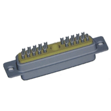 21W1 D-sub Coaxial Connector Female Solder Cup