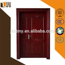 porta de madeira de painéis duplos de estilo moderno