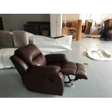 Dark Red Modern Recliner Sofa in Living Room Furniture (723)