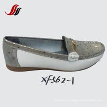 Neueste Dame Women Loafer Schuhe Freizeit Leder Schuhe (SF01)
