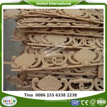 madera talla flor moldura decoración de pared moldura