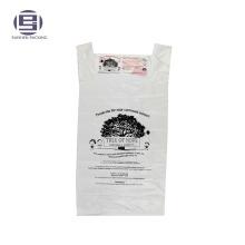 T-shirt imprimé en plastique sac de donation de charité