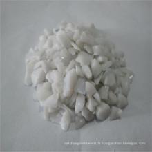 Verre concassé / cassé en porcelaine blanc 3-6mm, verre sable / roche pour comptoir