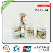 Las tazas de café de piedra vendedoras calientes de Christma pueden Costomized