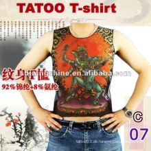 2016 heiße Verkaufsmänner und Frauen preiswertes kurzes Hülsentätowierungst-shirt