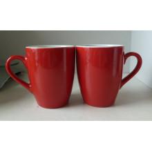 Caneca vidrada vermelha da porcelana (CY-P573)
