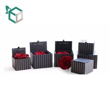 Alibaba Qualitäts-kundenspezifisches Logo druckte Pappeinzelstück Rose Flower Tuck-In Containers