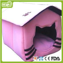 New Design Tent Shape Plush Dog House (HN-pH343)