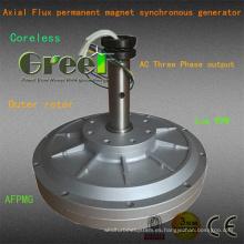 Generador pequeño 1kw con bajas revoluciones por minuto y par motor para el uso del viento